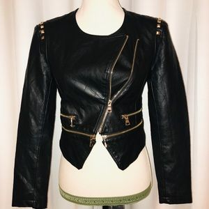 Forever 21. Faux leather moto jacket. Size s